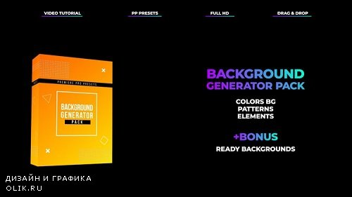 Background Generator Pack 196385 - Premiere Pro Presets