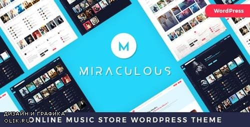 ThemeForest - Miraculous v1.2 - Online Music Store WordPress Theme - 22683275