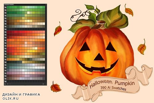 Halloween Pumpkin PS and Ai Swatches - 2898070 - 2861563