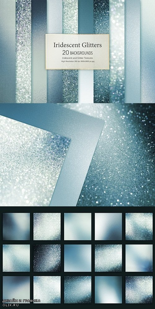 Iridescent and Glitter Textures - 3484455