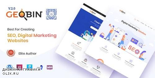 ThemeForest - GeoBin v2.0 - Digital Marketing Agency, SEO WordPress Theme - 21901781