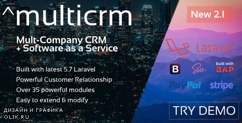 CodeCanyon - ^multicrm v2.1 - Powerful Laravel CRM +Front End Software As A Service - 22196657