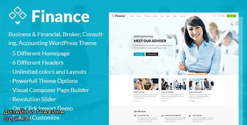 ThemeForest - Finance v1.4.2 - Business Financial Broker Consulting Accounting WordPress Theme - 17186694