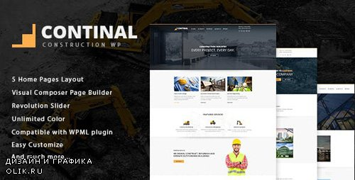 ThemeForest - Continal v1.4 - Construction & Business WordPress Theme - 16216195
