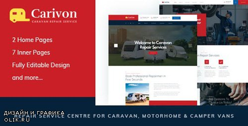 ThemeForest - Carivon v1.0 - Repair Service Centre for Caravan & Motorhome HTML Template - 23490448