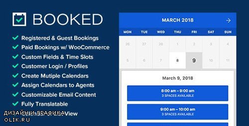 CodeCanyon - Booked v2.2.4 - Appointment Booking for WordPress - 9466968