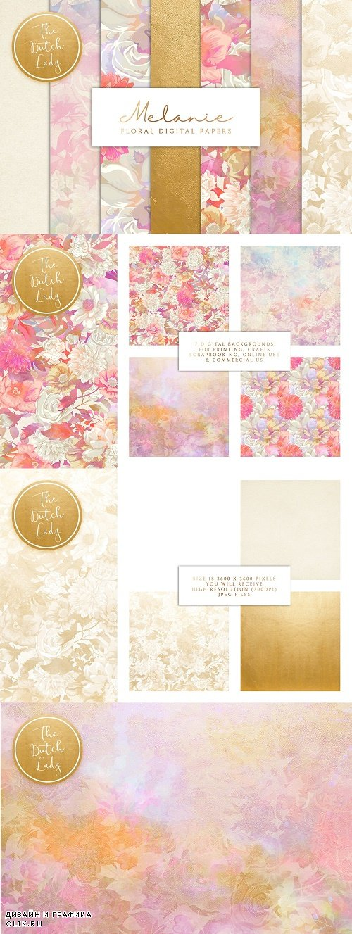 Floral Backgrounds & Paper - Melanie - 3607798