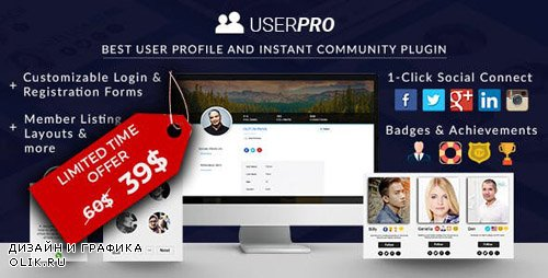 CodeCanyon - UserPro v4.9.32 - Community and User Profile WordPress Plugin - 5958681 - NULLED
