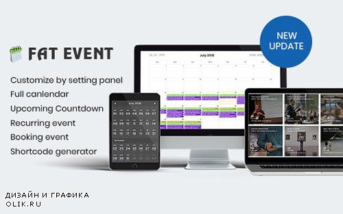 CodeCanyon - FAT Event v1.11 - WordPress Event and Calendar Booking - 22311915