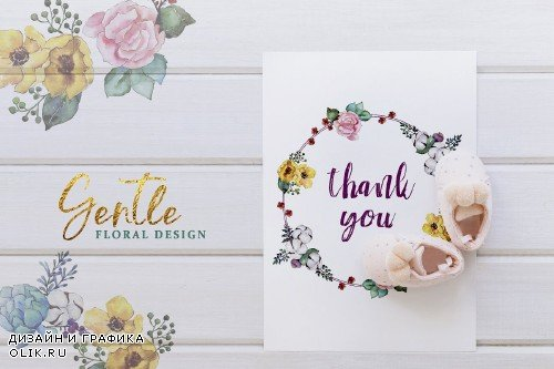 Bouquets yellow Watercolor png - 3334129