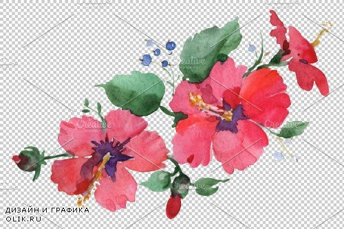 Bouquet Spring Wind Watercolor png - 3648028