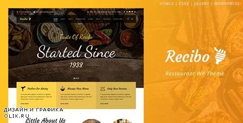 ThemeForest - Recibo v1.21 - Restaurant / Food / Cook WordPress Theme - 12025238