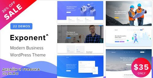 ThemeForest - Exponent v1.0.5 - Modern Multi-Purpose Business WordPress theme - 23211123