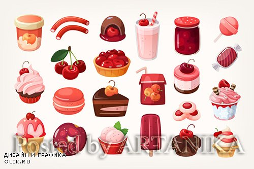 All kinds of cherry desserts