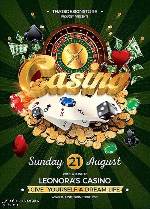 Casino Flyer Template V1 - 90572