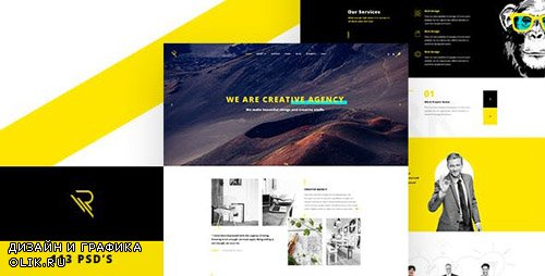 ThemeForest - Reticulum v1.0 - Creative Psd Template - 17048683