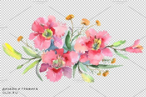 Imperial bouquet Watercolor png - 3674174