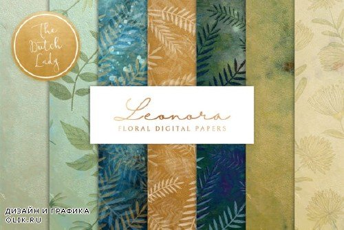 Floral Background & Paper - Leonora - 3672764