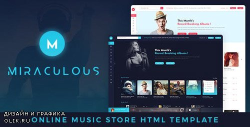ThemeForest - Miraculous v1.0 - Online Music Store HTML Template - 22317727