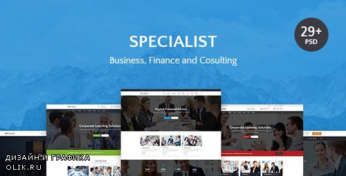 ThemeForest - Specialist v1.0 - Multipurpose Business & Financial, Consulting, Accounting, Broker Psd Templates - 19984148