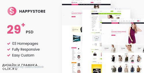 ThemeForest - HappyStore v1.0 - Multi-Purpose Responsive Ecommerce PSD Template - 19345574