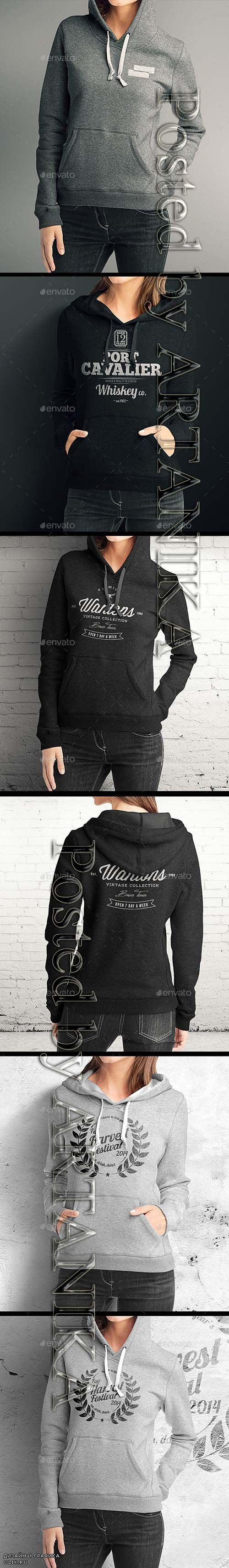 GraphicRiver - Woman Hoodie Mock-up 8954428