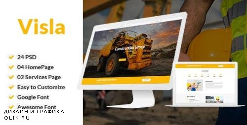 ThemeForest - Visla - Multipurpose Construction PSD Template (Update: 9 November 17) - 20845425