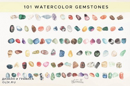 Gemstones 101 Watercolor Package - 3672774