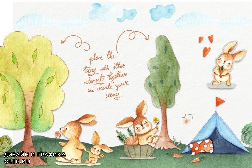 Bunny Camping Collection - 3688667