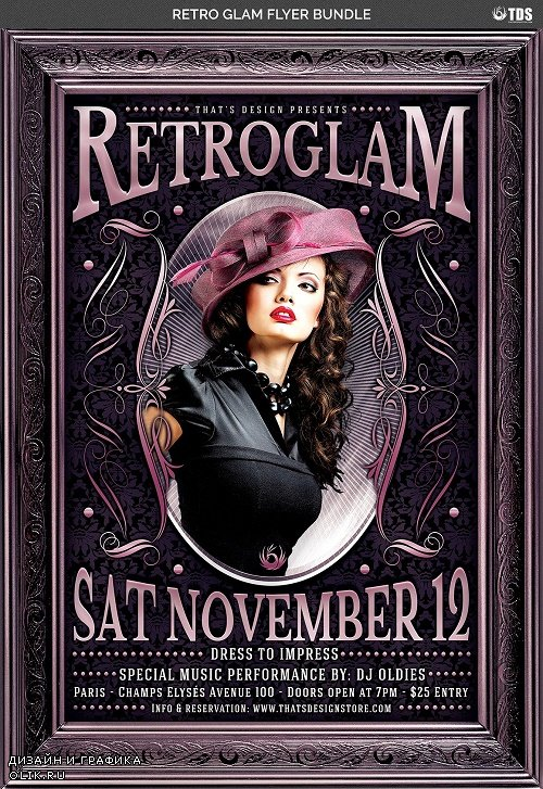 Retro Glam Flyer Template V3 - 91002 - 7683259