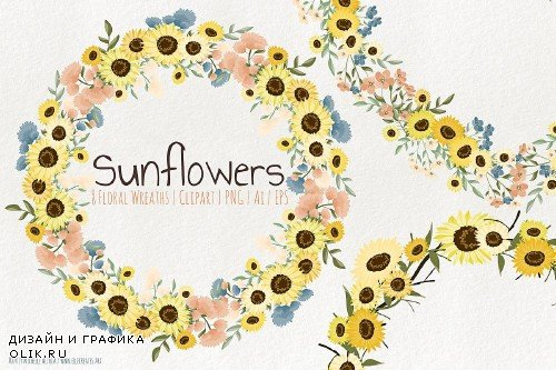 Sunflowers - Floral Wreaths - 3685989