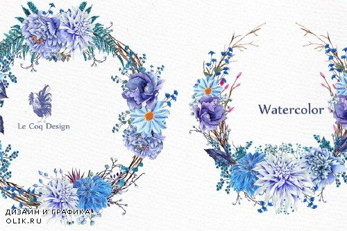 Watercolor wedding clipart - 1162954