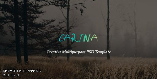 ThemeForest - Carina v1.0 - Creative Multipurpose PSD Template - 13878969