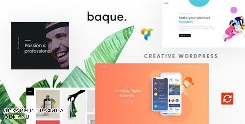 ThemeForest - Baque v1.0.4 - Multipurpose Onepage Creative WP Theme - 22460864