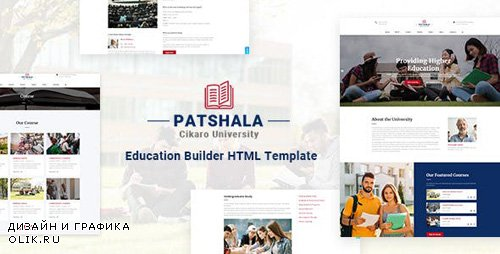 ThemeForest - Patshala v1.0 - Education HTML Template with Page Builder - 23640906