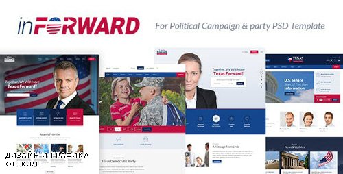 ThemeForest - inForward v1.0 - Political Campaign, Party, Nonprofit PSD Template - 21151475