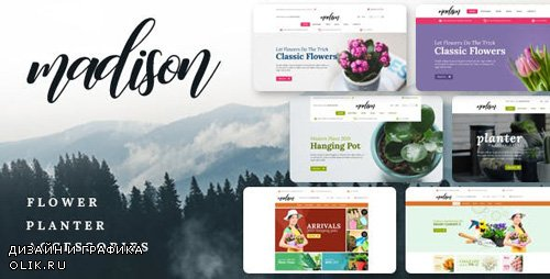 ThemeForest - Madison v1.1 - Flowers, Plant, Beauty, Gardening tools, Food store, Nursery Shopify Theme - 23099859