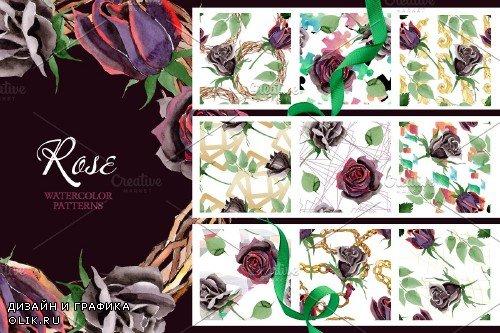 Exclusive black rose watercolor png - 3700244
