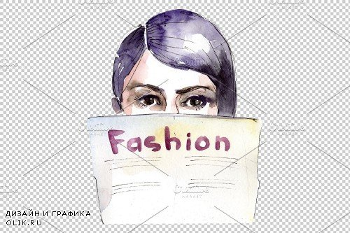 Fashion and style watercolor png - 3699503