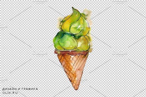 Ice cream Malvina Watercolor png - 3694755