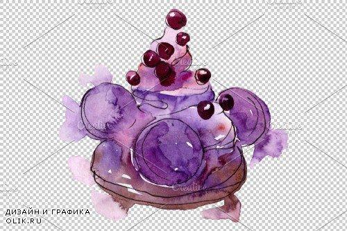 Dessert Brown Watercolor png 3694671
