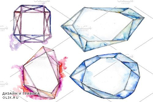 Crystals fine red and blue - 3697943