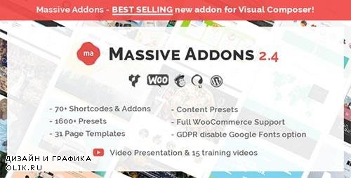 CodeCanyon - Massive Addons for WPBakery Page Builder v2.4.5.1 - 14429839