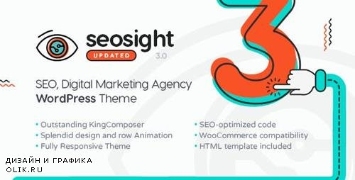 Themeforest - Seosight v3.4 - SEO, Digital Marketing Agency WP Theme with Shop - 19245326
