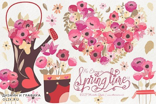 Springtime 03 - Red and Pink Vector - 3695459