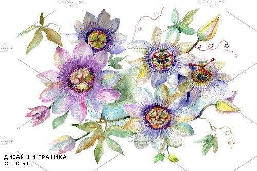 Bouquet of spring hello watercolor - 3706021