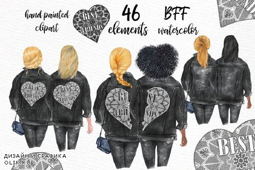 Best Friends Clipart Black Jackets - 3649413