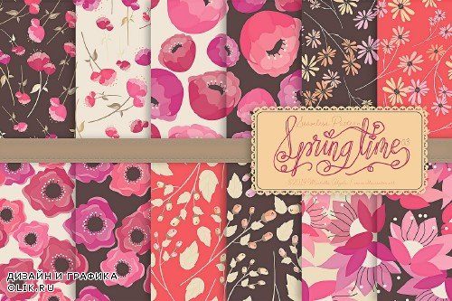 Springtime 03 - Seamless Patterns - 3696545