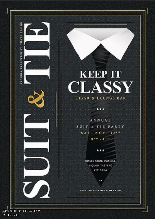 Suit and Tie Flyer Template V4 - 3700090