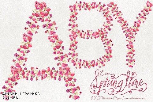 Springtime 03 Floral LETTERS - 3698067